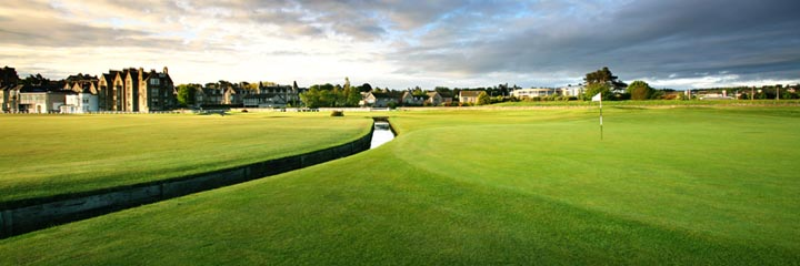 The 1st green of the Old Course, St Andrews