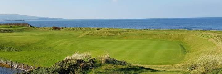 Prestwick St Nicholas Golf Club on the shores of the Firth of Clyde