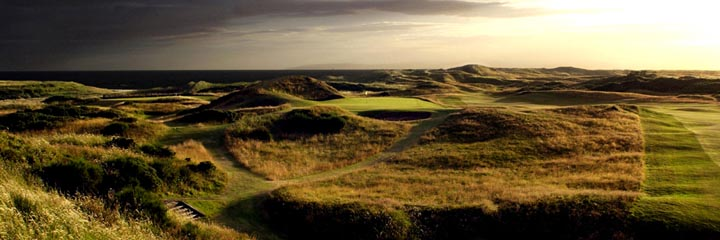 "The 8th hole, the ""Postage Stamp"" of the Old course at Royal Troon Golf Club"