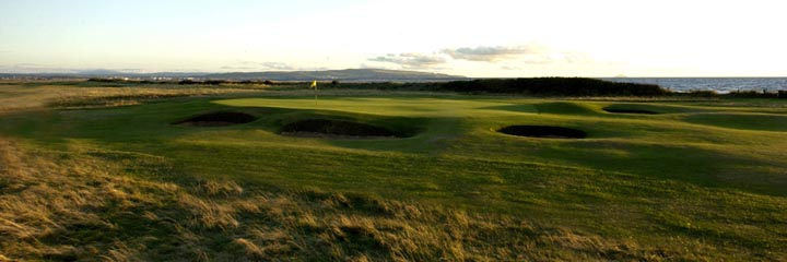 The 1st hole of the Old course at Royal Troon Golf Club