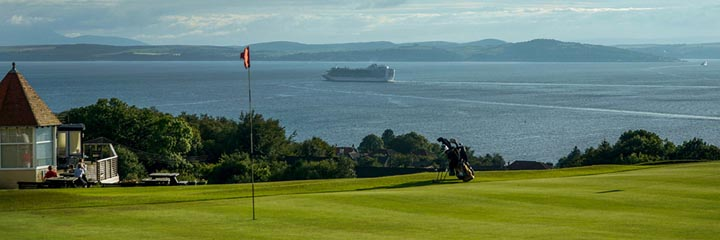 A view Skelmorlie Golf Club looking over the Firth of Clyde